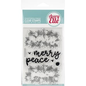 Avery Elle: Peaceful Pines - Clear Stamp Set, 4x6