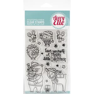 Avery Elle: A Merry Little Christmas - Clear Stamp Set, 4x6