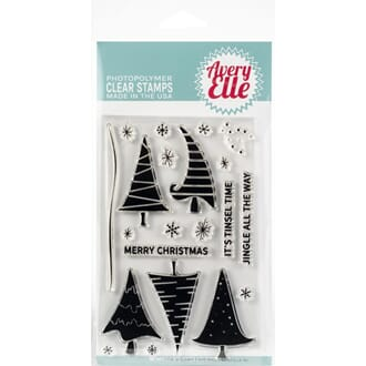 Avery Elle: Quirky Christmas - Clear Stamp Set, 4x6