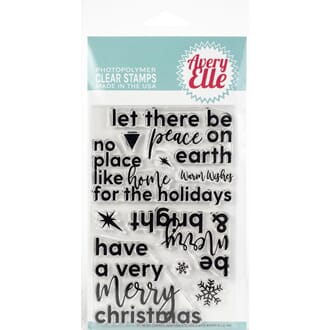 Avery Elle: Corner Sentiments-Holiday - Clear Stamp Set, 4x