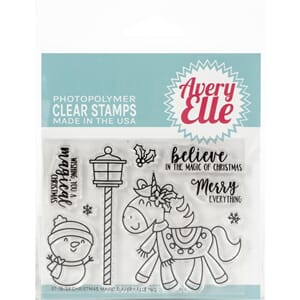 Avery Elle: Christmas Magic Clear Stamp Set, 4x3 inch