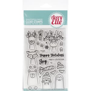 Avery Elle: Polar Peek-A-Boo Pals Clear Stamp Set, 4x6 inch