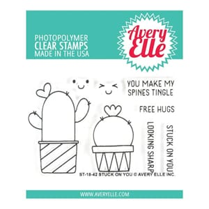 Avery Elle: Stuck On You Clear Stamp Set, 2x3 inch