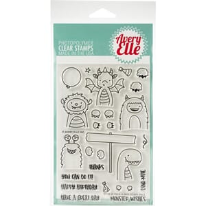 Avery Elle: Peek-A-Boo Scary Clear Stamp Set, 4x6 inch