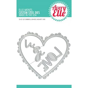 Avery Elle: Embellished Heart Elle-Ments Dies