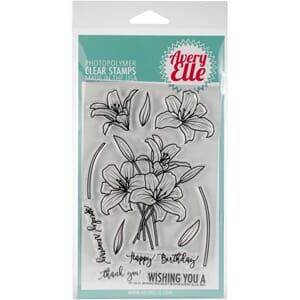 Avery Elle: Spring Bouquet Clear Stamp Set, 4x6