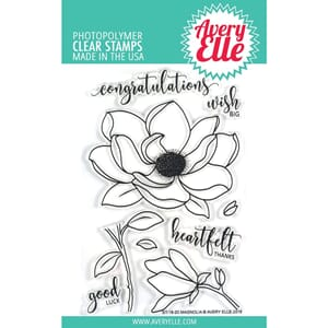 Avery Elle: Magnolia Clear Stamp Set, 4x6 inch