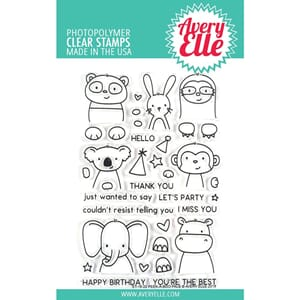 Avery Elle: Peek-A-Boo Pals - Clear Stamps, 4x6 inch