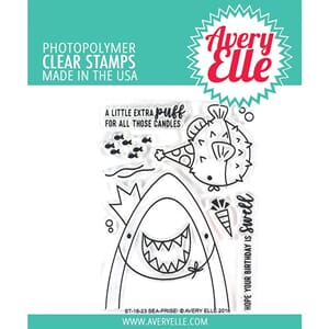 Avery Elle: Sea-Prise! - Clear Stamps, 4x3 inch