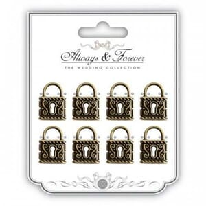 Craft Consortium: Metal Vintage Vintage Lock Charms Medium