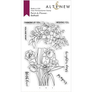 Altenew: Paint-A-Flower: Daffodil Outline Stamp Set