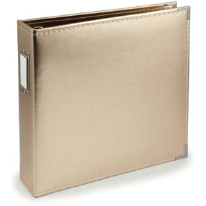 Project Life: Gold - Classic Faux Leather D-Ring Album