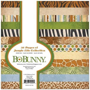 BoBunny: Jungle Life Paper Pad 6x6, 36/Pkg