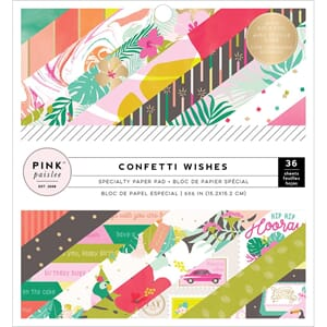 Pink Paislee: Confetti Wishes Paper Pad, 6x6, 36/Pkg