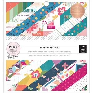 Pink Paislee: Whimsical W/Copper Foil Paper Pad, 6x6, 36/Pkg