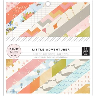 Pink Paislee: Little Adventurer Girl Paper Pad, 6x6, 36/Pkg
