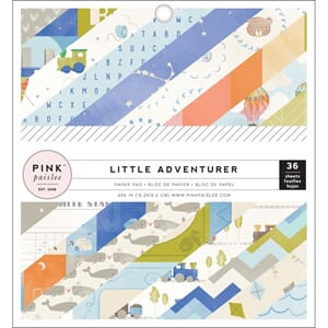 Pink Paislee: Little Adventurer Boy Paper Pad, 6x6, 36/Pkg