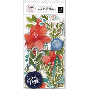 Pink Paislee: Together For Christmas Ephemera Die-Cuts 40/Pk