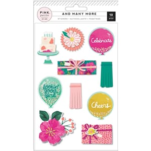 Pink Paislee: And Many More Layered Stickers 10/Pkg
