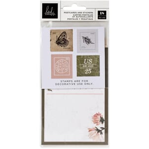 Heidi Swapp: Storyline Chapters Postcards & Stamps 18/Pkg