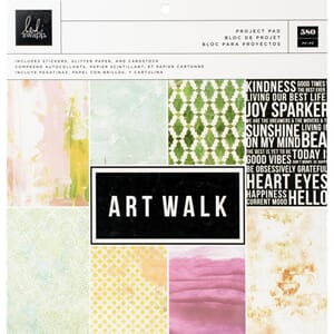 Heidi Swapp: Art Walk Project Pad 12x12, 580/Pkg