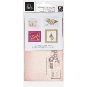 Heidi Swapp: Art Walk Postcards & Stamps 18/Pkg