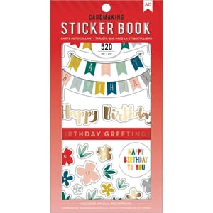 American Crafts: Birthday Greetings Stickers 30-Page Book