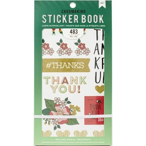 American Crafts: Lots Of Thanks Stickers 30-Page Book