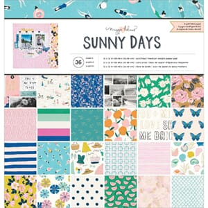Crate Paper: Sunny Days Single-Sided Paper Pad, 12x12, 36/Pk