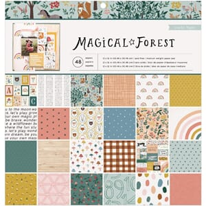Crate Paper: Magical Forest Paper Pad, 12x12 inch, 48/Pkg