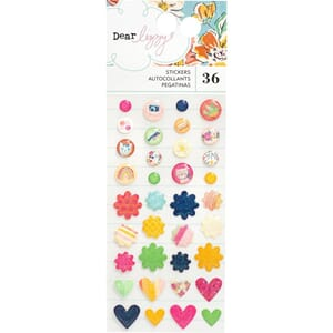 Dear Lizzy: She's Magic Enamel Stickers, 36/Pkg