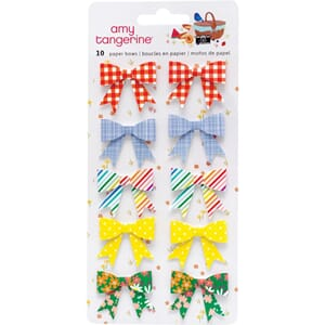 Amy Tan: Picnic In The Park Paper Bows Stickers 10/Pkg