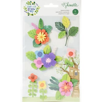 Shimelle: Never Grow Up Layered Stickers 7/Pkg