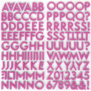 Dear Lizzy: Flip Flop Alphabet Here & Now Stickers 124/Pkg