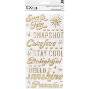 Dear Lizzy: Heat Wave Phrase Here & Now Stickers 132/Pkg