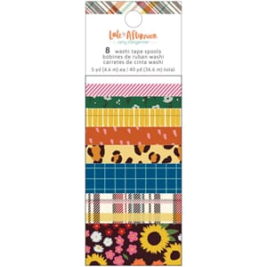 Amy Tan: Late Afternoon Washi Tape, 8/Pkg