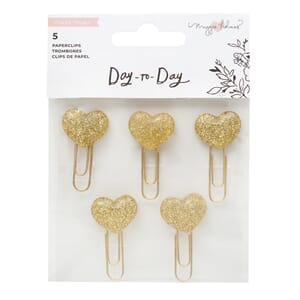 Crate Paper: Gold Glitter Day to Day Paperclips, 6/Pkg