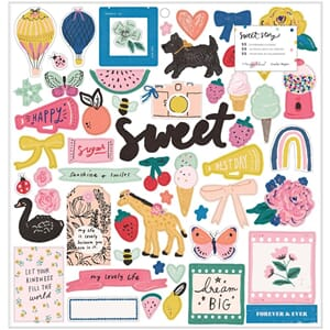 Maggie Holmes: Sweet Story Chipboard Stickers 55/Pkg