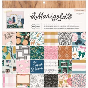 Crate Paper: Maggie Holmes Marigold Paper Pad, 12x12, 48/Pkg