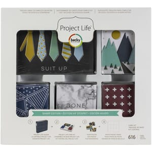Project Life: Sharp Edition Core Kit, 616/Pkg