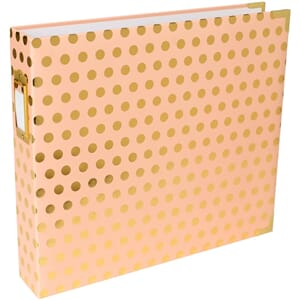 Project Life: Blush W/Gold Dots D-Ring Album, 12x12