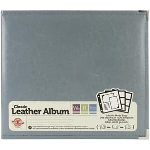 We R - Charcoal Classic Leather D-Ring Album, 12x12 inch