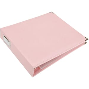 We R - Pretty Pink Classic Leather D-Ring Album, 12x12 inch