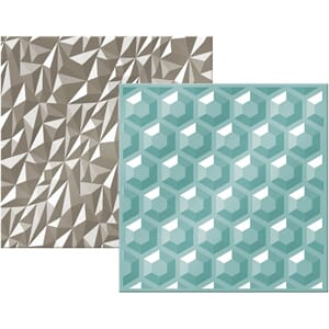 We R: Gemstone Next Level Embossing Folders, 6x6, 2/Pkg