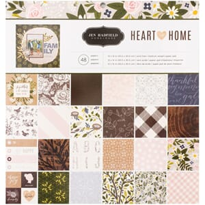 Pebbles: Jen Hadfield Heart Of Home Paper Pad, 12x12, 48/Pkg