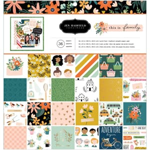 Pebbles: Jen Hadfield This Is Family Paper Pad, 12x12, 48/Pk