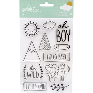 Pebbles: Boy Peek-A-Boo You Clear Stamps