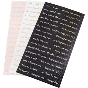 Jen Hadfield: Hey, Hello Repeat Label Stickers 105/Pkg