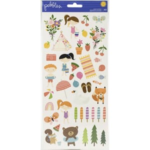 Pebbles: Sun & Fun Cardstock Stickers 6x12, 83/Pkg
