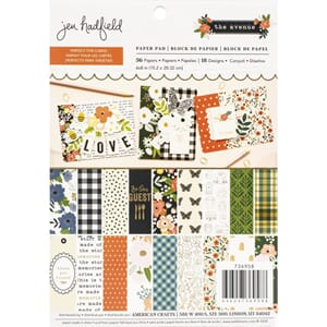 Pebbles: Jen Hadfield The Avenue Paper Pad, 6x8, 36/Pkg
